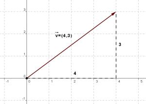 vector posición